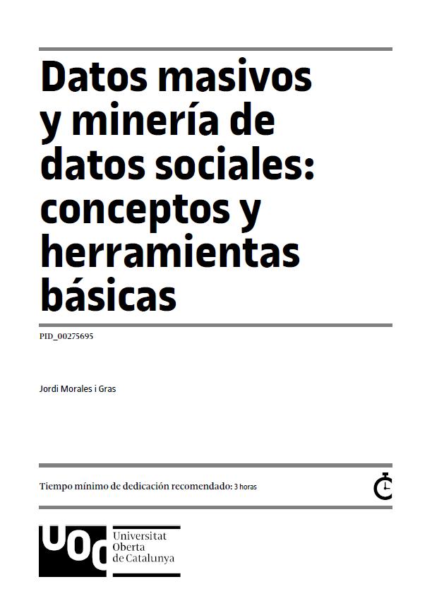 Datos masivos y minería de datos sociales: conceptos y herramientas básicas
