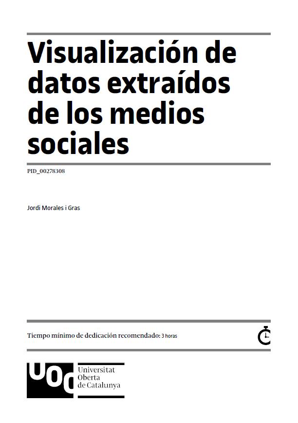 Visualización de datos extraídos de los medios sociales